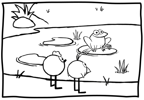 peep and quack coloring pages - photo#21